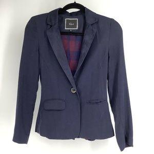Rails Womens Blazer Jacket Navy Elbow Patch XS